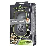 FURminator Striegel für Hunde-Fellpflege Hundebürste zum Ausbürsten von Staub und losem Haar für gesundes glänzendes Fell, mit Gummi Noppen und ergonisch geformtem Griff) - 4