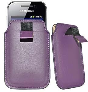 Accessory Master- Violet Housse Pocket Etui Slip en Simili cuir coque pour Samsung galaxy S3 mini (p
