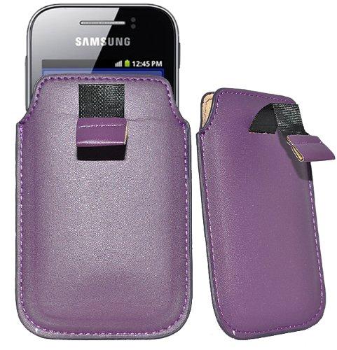 Accessory Master Schutzhülle für Nokia C2-05 (aus Kunstleder) Violett (05 Violett)