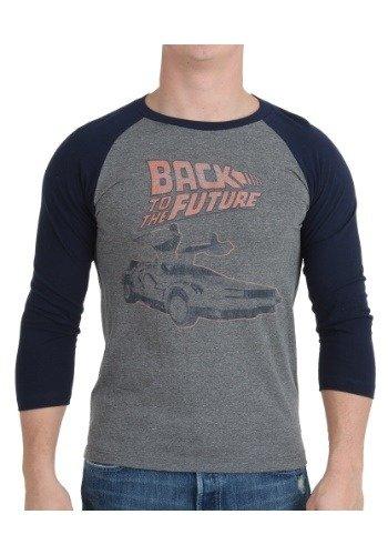 Preisvergleich Produktbild Back To The Future Rework Orange Logo Raglan Shirt 2X