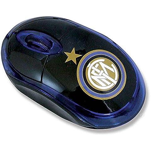 Techmade Mouse Ottico USB, Inter Milano, Azzurro/Nero