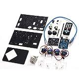 DIY-elektronische kit Desktop Robotic Arm Acrylic Manipulator Uno Robot Electronic DIY Kit 1 stuks (Color : Gray)