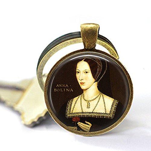 nijiahx Anne Boleyn Portrait Schlüsselanhänger – Henry VIII – Ehefrauen von Henry VIII – Tudor Jewelry – Anne Boleyn Picture Schlüsselanhänger