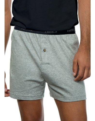 Hanes Classics Mens Boxer (Hanes Classics Men's Tagless Knit Boxers Comfort Flex Waistband 5-Pack)