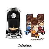 Tchibo Saeco Cafissimo Tuttocaffè Kapselmaschine Bianco (Kaffeemaschine weiß, inkl. 90 Kapseln)