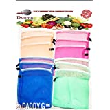 (Pack Of 12) Multi-purpose Vegetables Fruits Mesh Fridge Storage Washable Zip Bags (Free Delivery)