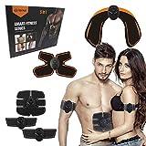 Mixen Wireless Muscle Stimulator Trainer - Arm/Abdominal Smart Fitness Wireless Abdominal Muscle Electronic