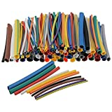 SLB Works 5X(144Pcs Assorted Electrical Cable Heat Shrink Tube Tubing Wrap Sleeve Kit P4J4