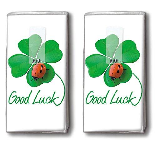 20 Taschentücher (2x 10) Good Luck to you - Viel Glück für Dich / Glücksbringer / Motivtaschentücher