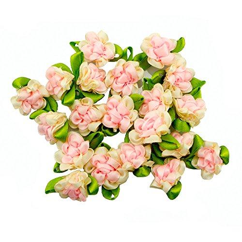HAND Bella doppio colore fiore del nastro cuce sul trim
