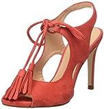 PEDRO MIRALLES 19316, Sandalias con Tira de Tobillo Para Mujer, Rojo (Geranio), 36 EU
