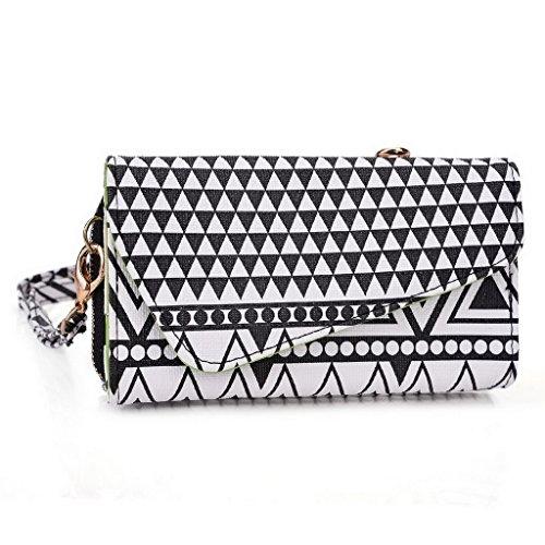 Kroo Pochette/étui style tribal urbain pour Lava Iris 406q/3G 415 Multicolore - Rose Multicolore - Noir/blanc