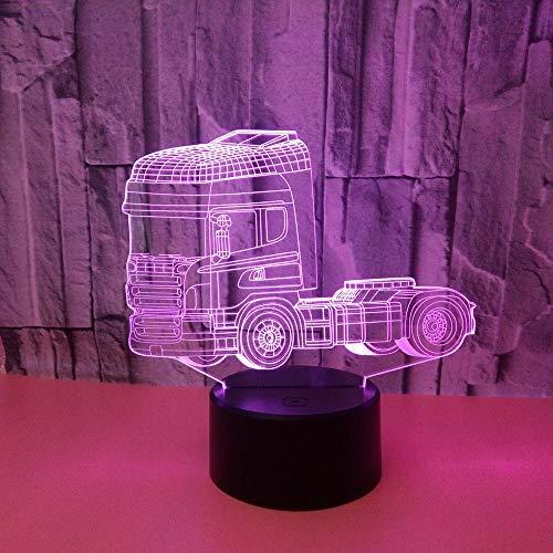 wangZJ 3d Visuelle Illusion Lampe/lkw Nachtlicht/led Nachtlichter / 7 Farbwechsel Nachtlichter/kinder Halloween Geschenk/touch