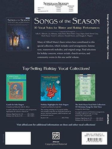 Songs of the Season Hi Voice Book & CD