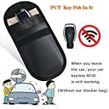 MONOJOY 2 X Car Key Signal Blocker Case, Keyless Entry Fob Guard Signal Blocking Pouch Bag, Antitheft Lock Devices, Healthy Cell Phone Privacy Protection Security WIFI/GSM / LTE/NFC / RF Blocke