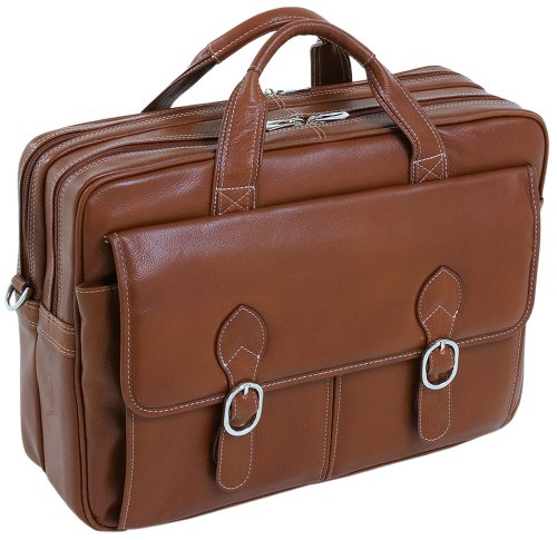 mcklein-kenwood-15564-brown-leather-double-compartment-laptop-case