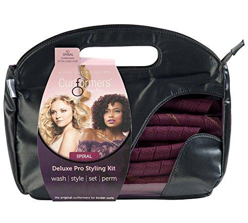 Curlformers Deluxe - Lockenstyling-Set für Spirallocken - für sehr langes Haar bis zu einer Länge von 55 cm - ohne Hitze - mit 40 Lockenwicklern und 2 Stylinghaken