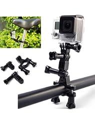 XCSOURCE® Fahrrad-Motorrad-Lenker Sattelstütze Masthalter für Gopro Hero 3 + / 3/2/1 4 SJ4000 SJ5000 Kamera OS015