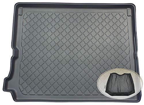 ZentimeX Z3290880 Gummierte Kofferraumwanne fahrzeugspezifisch + Klett-Organizer (Laderaumwanne, Kofferraummatte)