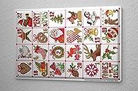 "Christmas retro Tin sign wall decoration Advent Calendar Wall metal plate 8x12"""
