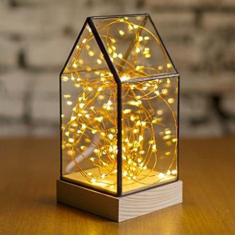 Arbre de feu de bois créatif Yinhua Cadeau d 'anniversaire de Saint - Valentin de Noël Bar Bar Café Lampe de table décorative