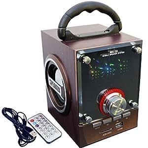 MS-18 - Multimedia Speaker Enceinte portable - FM Radio USB LED SD Télécommande