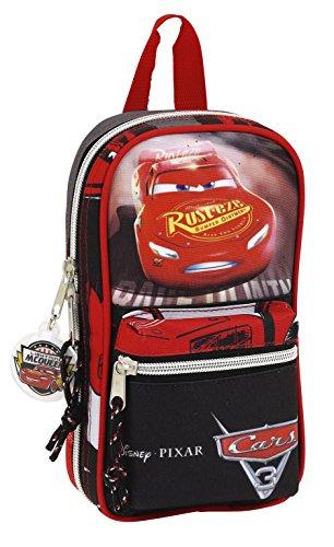 Cars – Plumier forma de mochila con 4 portatodos llenos (Safta 411709747)
