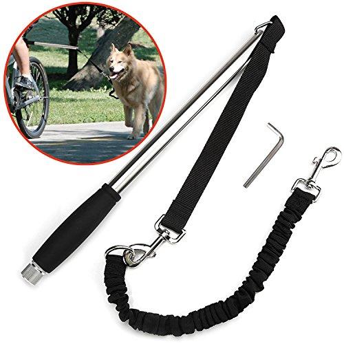 Poppypet Edelstahl Ruderhalterung Fahrrad Hunde Leine, Fahrrad Trainer Leine für Hunde, Einfache Anbringung und robuste Edelstahlkonstruktion, Entwickelt für sicheres Radfahren mit Ihrem Hund
