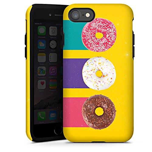 Apple iPhone X Silikon Hülle Case Schutzhülle Donuts Süßigkeiten Candy Tough Case glänzend