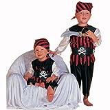 Stekarneval Kleinkind-Kostüm Pirat, rot-schwarz, Gr. 80-86