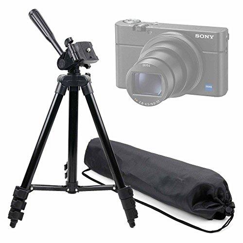 Treppiede professionale estendibile per fotocamera fujifilm x-t100 , sony rx100 vi / dsc-rx100m6 , panasonic lumix g dmc-gh4r , kodak pixpro fz152 friendly zoom + custodia per fotocamera trasporto - peso massimo 2 kg duragadget