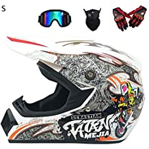 StageOnline Casco de Motocross Todoterreno - Juego de Casco 4PCS Road Racing  para el Casco Integral 9e10e33d9ff