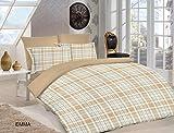 Bettbezug Set–100% Ägyptische Baumwolle–180Fadenzahl–Attraktive Designs., EMMA, Double (200x200cm)