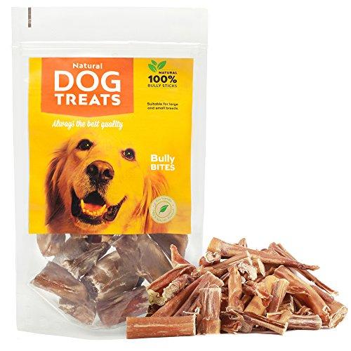100% Naturales Masticables Palos para Perros Bocadillo de Cuero Crudo de Toro, 100 g