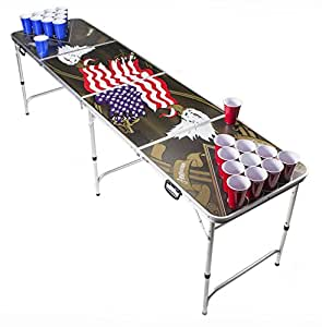 Beer Pong Tisch Set - American Eagle Design - Beer Pong