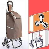 YWXLC Handwagen Wagen-Anhänger-Gepäcktasche des Bergsteigenseinkaufswagenes faltender Laufkatzeausgangs tragbarer tragbarer faltender Handwagen (Farbe : C)