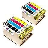 8x Kompatible Druckerpatronen - Ersatz für T0715 - Cyan / Gelb / Magenta / Schwarz- PATRONEN MIT NEUESTEN CHIP - Epson Stylus B40W BX300f BX310FN BX600FW BX610FW D120 Network D78 D92 DX400 DX4000 DX4050 DX4400 DX4450 DX5000 DX5050 DX6000 DX6050 DX6050EN DX7000 DX7000F DX7400 DX7450 DX8000 DX8400 DX8450 DX9400F Wifi Office BX510 SX600FW S20 S21 SX100 SX105 SX110 SX115 SX200 SX205 SX210 SX215 SX218 SX400 SX405 SX410 SX415 SX510W SX515W SX610FW