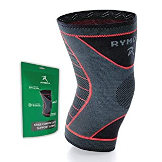 Knee Support Sleeve for Women and Men (Concaved Version) (Single Wrap) (Small) - Compression Brace for Ligament Injury, Joint Pain Relief, Running, Arthritis, ACL, MCL, Sport