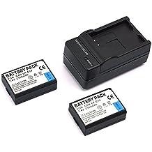 mondpalast@ 2X Reemplazo batería Li-ion type LP-E10 LPE10 2300mah + cargador para Canon EOS 1100D 1200D EOS Rebel T3 T5 Kiss X50