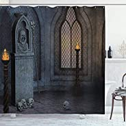 Gothic Decor Collection Gothic Scenery Mystical Spooky Moonlight Darkness Skulls Ghost Story Art Polyester Fab