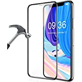 Newlike IPhone XS Max 5D Tempered Glass,Full Coverage Premium Anti Explosion Premium Tempered Glass,9H Hardness,2.5d D, Ultra Clear, Anti Scratch Free Anti Finger Print For IPhone XS Max - Black