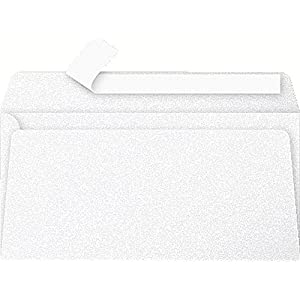 Clairefontaine Pollen Iridescent Adhesive Envelopes, DL, 120 g, White, Pack of 20
