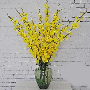 Direction générale de l'étage en plastique 1 Autres Fleurs Fleurs artificielles Orchidée Bleu