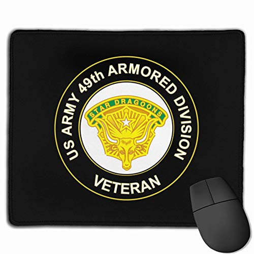 US Army 49th Armored Division Unit Crest Veteran PC Mouse Pads Mousepad Gaming Mats 9.8