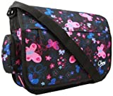 New Girls Womens Chervi Butterfly Hearts School College Laptop Satchel Messenger Bag
