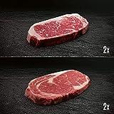Morgan Ranch US Black Angus Ribeye & Striploin Steak Paket - 2x jeweils Entrecôte und Roastbeef