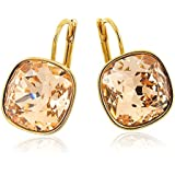 Light Peach Gold Earrings with Swarovski Elements