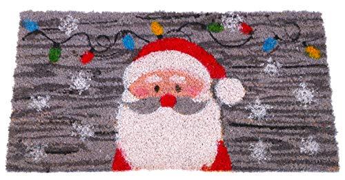 TOYLAND Tapete Puerta Fibra Coco diseño Santa Claus