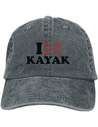 ZMYGH I Love Kayak Sport Denim Hat Adjustable Female Fitted Baseball Caps 644035939b3