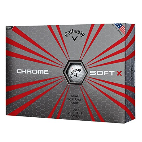 Callaway Golf 2017 Chrome Soft X Premium Double SoftFast Core Hommes Tour Golf Balles